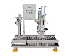Filling machine with capping